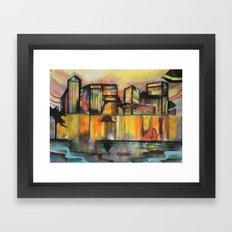 Pop Canary Wharf  Framed Art Print