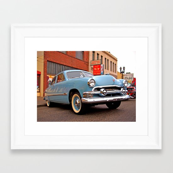 Baby blue and cool Framed Art Print
