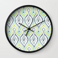 Sketchy IKAT Wall Clock