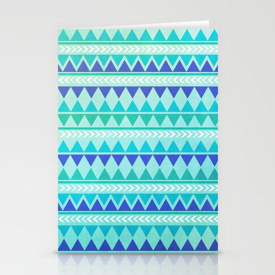 Winter Aztec Pattern Stationery Card