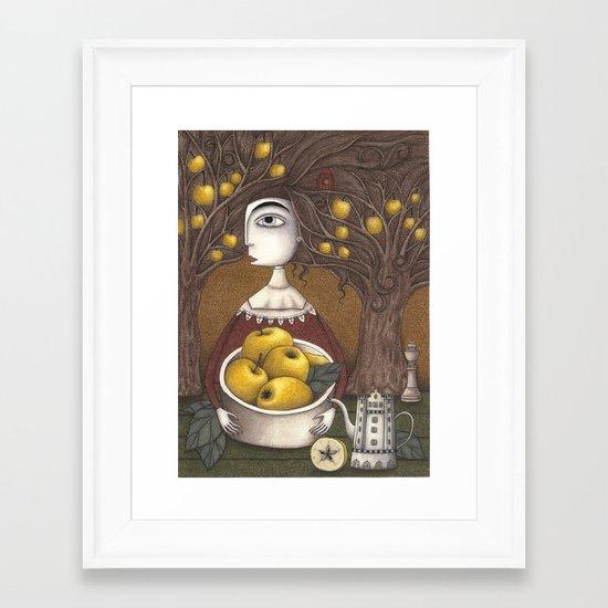 Portrait of an Apple Orchard Framed Art Print