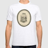 robot queen Mens Fitted Tee Ash Grey SMALL