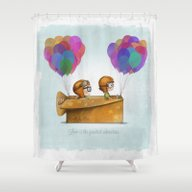 Shower Curtain featuring UP Pixar— Love Is Th… by Ciara Panacchia