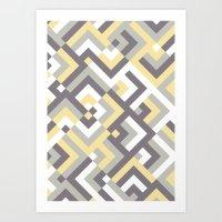 Yellow & Khaki Art Print