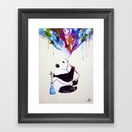 Framed Art Print featuring Chai by Marc Allante