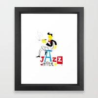jazz appeal Framed Art Print