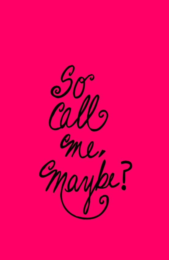 Call me maybe song lyrics Art Print