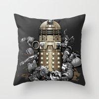Exterminated! Throw Pillow