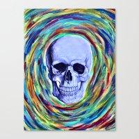 A Skull's Vortex Canvas Print