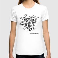L'imagination Womens Fitted Tee White SMALL