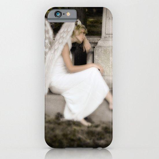 A Guardian Angel graveside iPhone & iPod Case