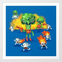 Veggie Attack Art Print