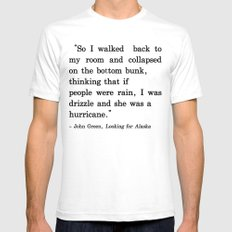 She Was a Hurricane White SMALL Mens Fitted Tee