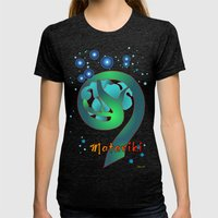 Matariki - Rise Of The P… Womens Fitted Tee Tri-Black SMALL