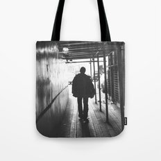 lonely guy silhouette Tote Bag