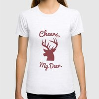 Cheers, My Deer. Womens Fitted Tee Ash Grey SMALL