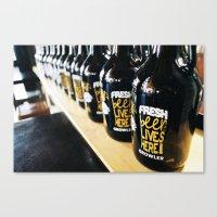 Fresh Beer Lives Here, Good George Brewing, Hamilton, NZ Canvas Print