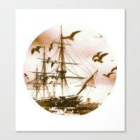 Telescope 5 Tall Ship Canvas Print