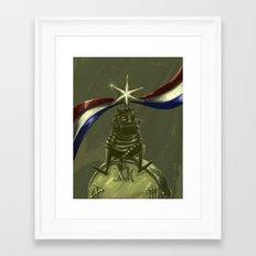 US H1B visa Framed Art Print