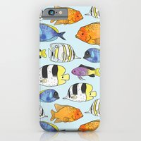 iPhone & iPod Case featuring Fish Pattern by Stephanie Marie Steinhauer