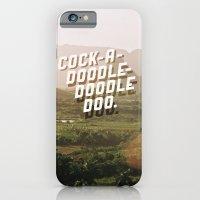 iPhone & iPod Case featuring Cock-A-Doodle-Doodle Doo by Grafiskanstalt