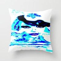 Water Women_02 Throw Pillow