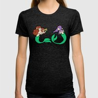Mermaids Womens Fitted Tee Tri-Black SMALL