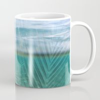 Palms over water  Mug