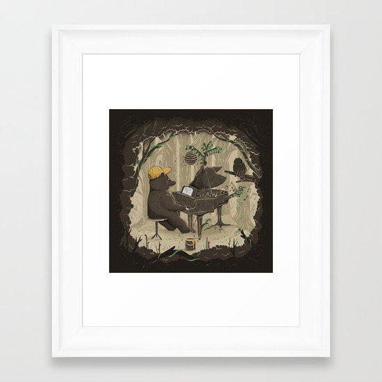 Forestal Sounds Framed Art Print