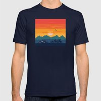 Back To The Wild West Mens Fitted Tee Navy SMALL