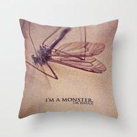 I'm.a.Monster. Throw Pillow