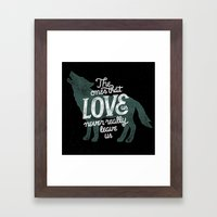 Never Leave Us Framed Art Print