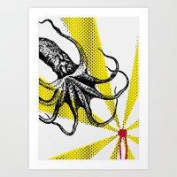 Kraken Up Art Print
