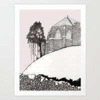 St. Vigeans (black And W… Art Print