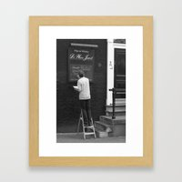 Special of the day... Bubbels. Framed Art Print