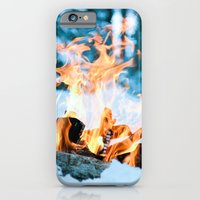iPhone & iPod Case featuring Ice and Fire by Leigh Eldridge