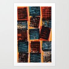 Press Print and Digital Pattern Print Art Print