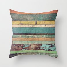 Wooden Vintage  Throw Pillow