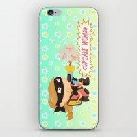 Cupcake woman iPhone & iPod Skin