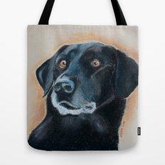 Nutter. A black lab Tote Bag