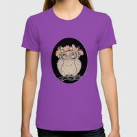 Lady Owl Ready For The F… Womens Fitted Tee Ultraviolet SMALL