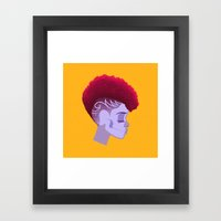 See Through Girl 5 Framed Art Print