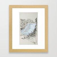 Local Gem # 6 - Ithaca Falls Framed Art Print