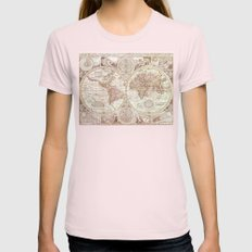 An Accurate Map Womens Fitted Tee Light Pink SMALL