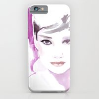 Fashion illustration in watercolors and ink iPhone 6 Slim Case