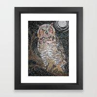 Owl Mosaic Framed Art Print