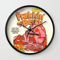 FRAKKIN' BERRY Wall Clock