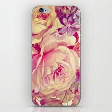 soft vintage roses iPhone & iPod Skin