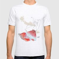 Dancing in the poppies Mens Fitted Tee Ash Grey SMALL