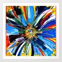 Dutch Spin - Colorful abstract painting flower Art Print